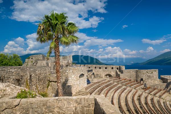 Сток-фото: крепость · амфитеатр · средневековых · старый · город · Черногория · морем