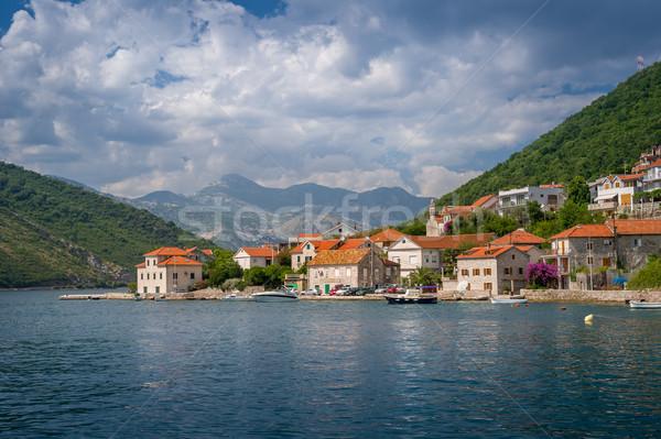 Paisagem balsa maneira Montenegro céu cidade Foto stock © Steffus
