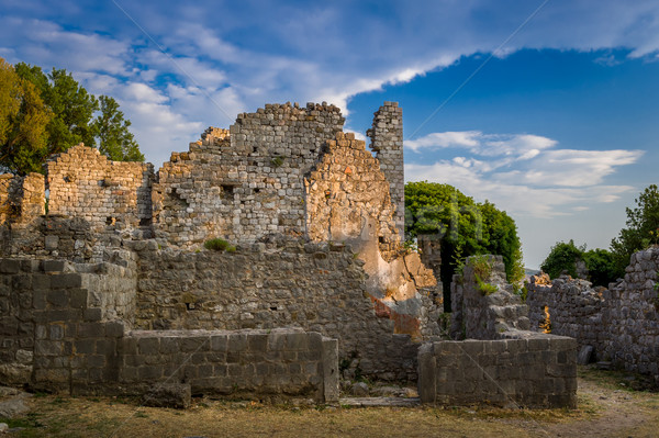 Barrio antiguo bar fortaleza Montenegro antigua ruinas Foto stock © Steffus