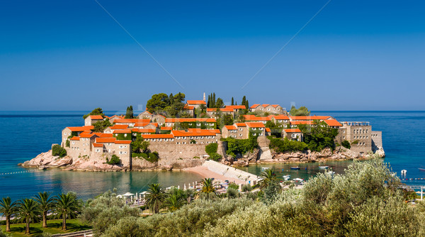 Sveti Stefan old town on the island Stock photo © Steffus