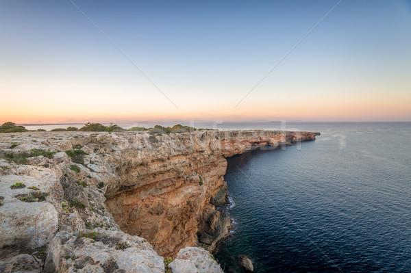 海 岩 風景 地中海 海岸 ストックフォト © Steffus