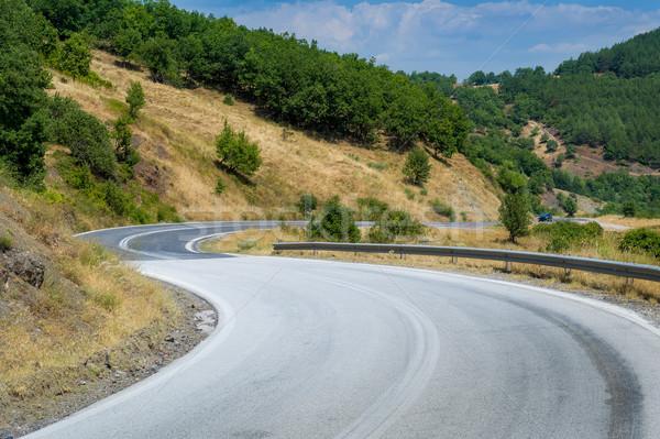 Yol dağlar ralli izlemek Yunanistan çim Stok fotoğraf © Steffus