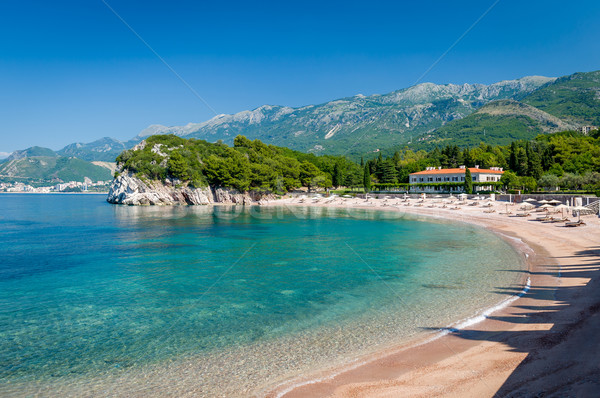 Perfect sand beach in Budva, Montenegro Stock photo © Steffus
