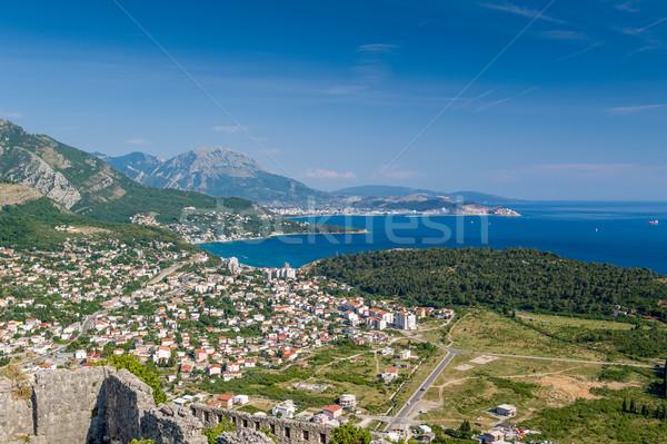 курорта Черногория популярный деревне берега Сток-фото © Steffus