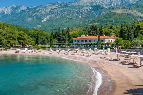 Empty Adriatic sea beach Stock photo © Steffus