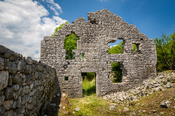 Ruinas fortaleza Montenegro último pared edad Foto stock © Steffus