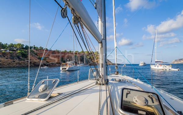 Yelkencilik yat güverte tekneler görmek Stok fotoğraf © Steffus