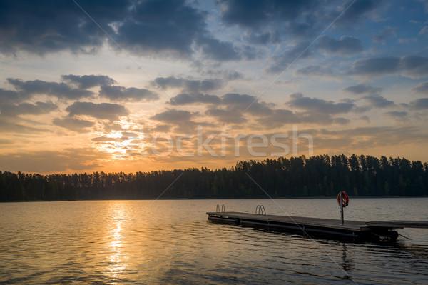 Romantic evening at lake Stock photo © Steffus