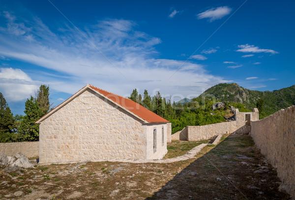Stockfoto: Kasteel · museum · bergen · dorp · meer