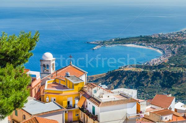 города пейзаж мнение горные Средиземное море океана Сток-фото © Steffus