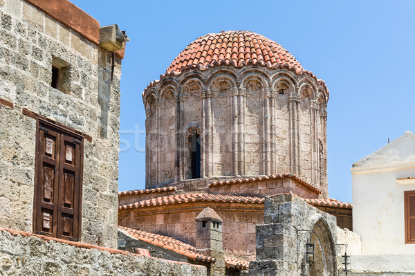 древних башни старый город Греция здании Сток-фото © Steffus
