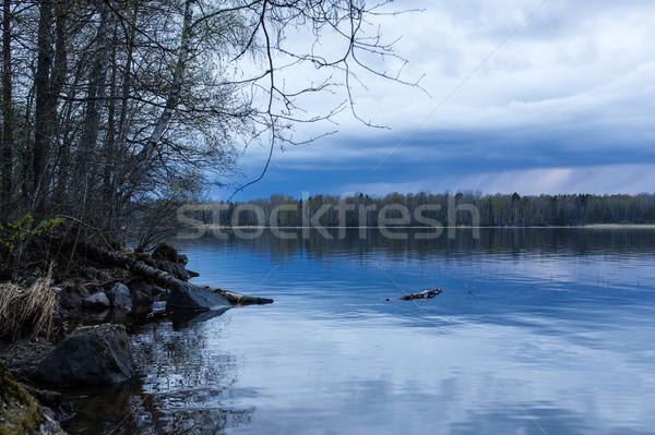 закат озеро воды природы лет синий Сток-фото © Steffus