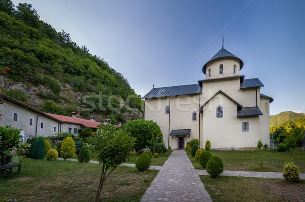 Manastır Karadağ bir kiliseler akşam saat Stok fotoğraf © Steffus
