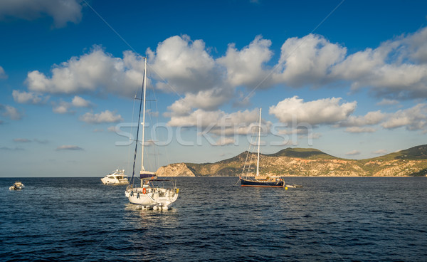 Sailing yachts anchorage Stock photo © Steffus