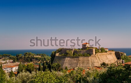 Ulcinj ancient fortress and old town at sunset  Stock photo © Steffus