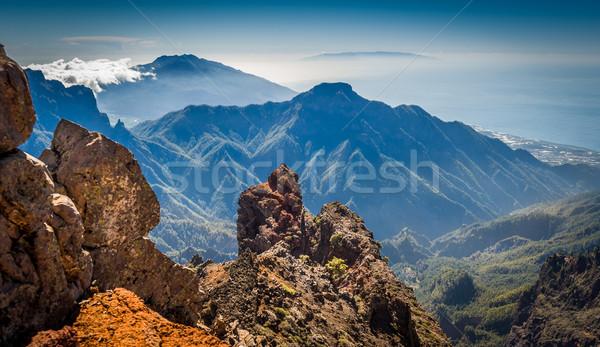 Volcanic mountains landscape. Stock photo © Steffus