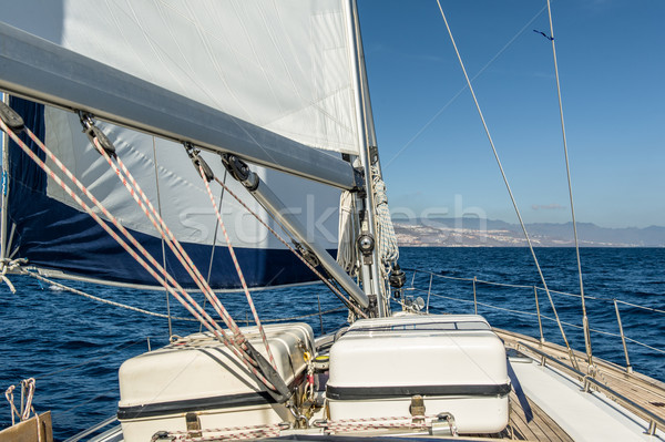 Yat yelken okyanus yelkencilik tekne güverte Stok fotoğraf © Steffus