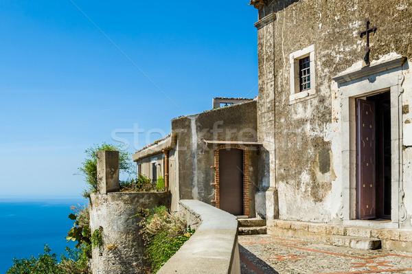 Antigua iglesia medieval ciudad sicilia Foto stock © Steffus