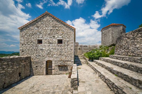 Eski kale mahkeme kasaba Karadağ taş Stok fotoğraf © Steffus
