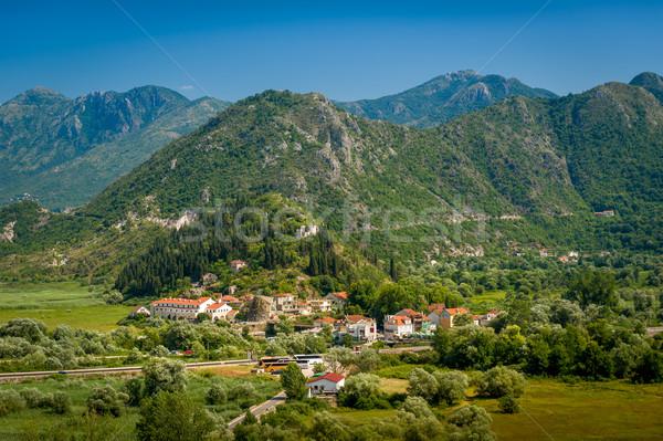 Сток-фото: антенна · Черногория · пейзаж · города · гор · озеро