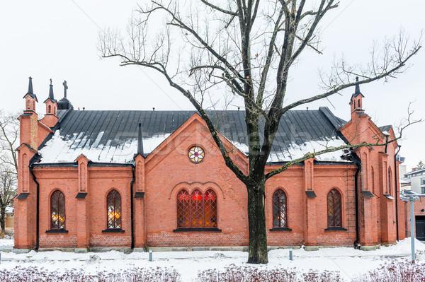 Faible vieux style église Helsinki hiver Photo stock © Steffus
