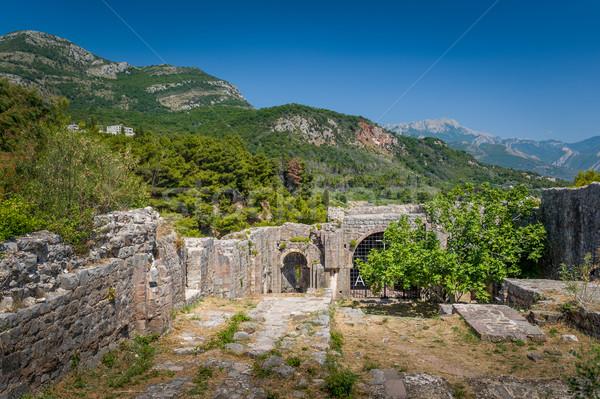 заброшенный крепость стен руин подземных Сток-фото © Steffus