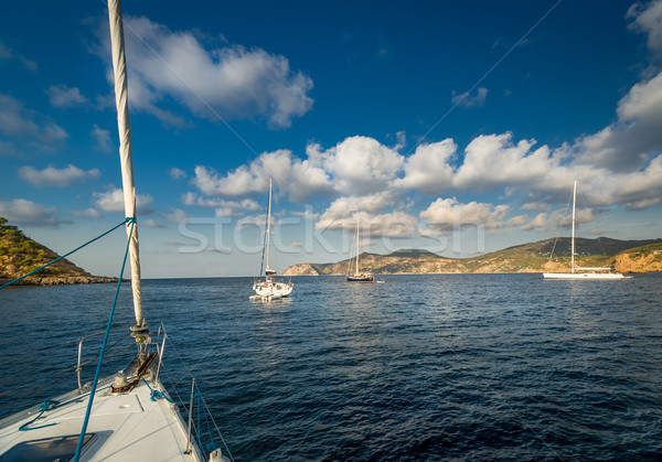 Voile ancre mer Espagne Photo stock © Steffus