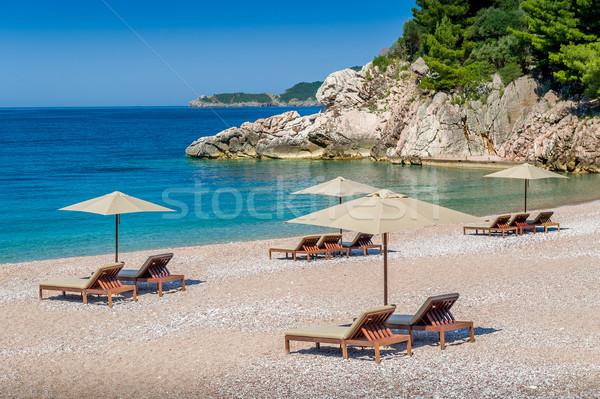 морем рай пород гор стульев Сток-фото © Steffus