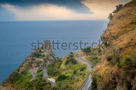 風景 風光明媚な 道路 古い 岩 ストックフォト © Steffus