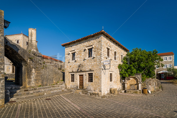 Ulcinj old town inside the medieval fortress Stock photo © Steffus