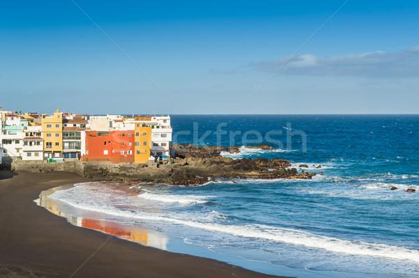 лучший океана пляж черный песок Тенерифе Сток-фото © Steffus