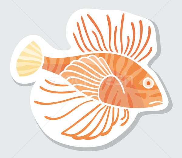 Vector color fish for your design. Stock photo © Stellis