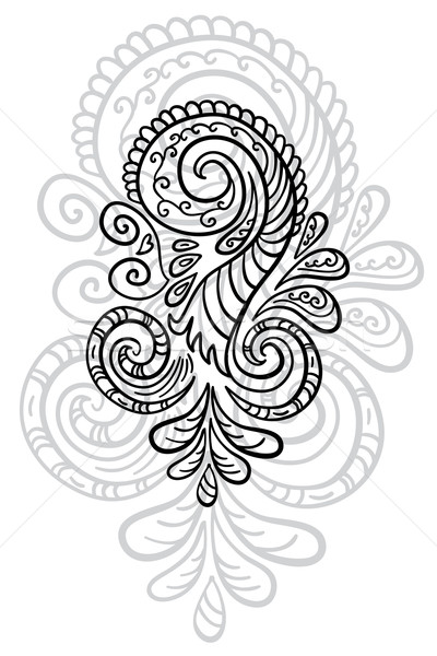 Beautiful abstract scroll pattern.  Stock photo © Stellis