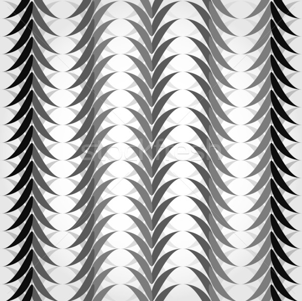 Seamless geometric pattern with black and white waves.  Stock photo © Stellis