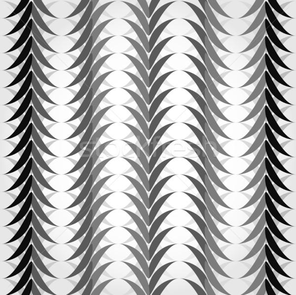 Végtelenített geometrikus minta feketefehér hullámok terv keret Stock fotó © Stellis