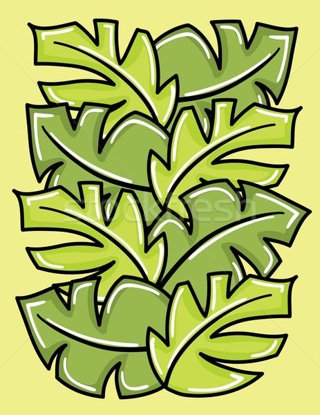 Vektor zöld levelek virág erdő terv levél Stock fotó © Stellis