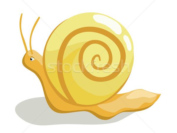 Beautiful creeping snail Stock photo © Stellis