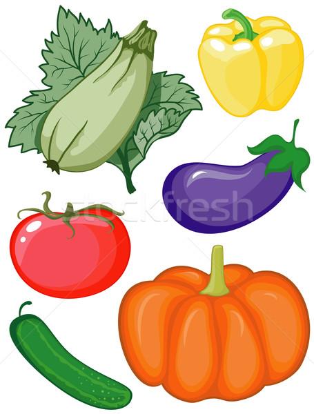 Set of vegetables Stock photo © Stellis