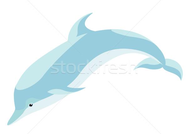 Delfin lebeg szép okos hal tenger Stock fotó © Stellis