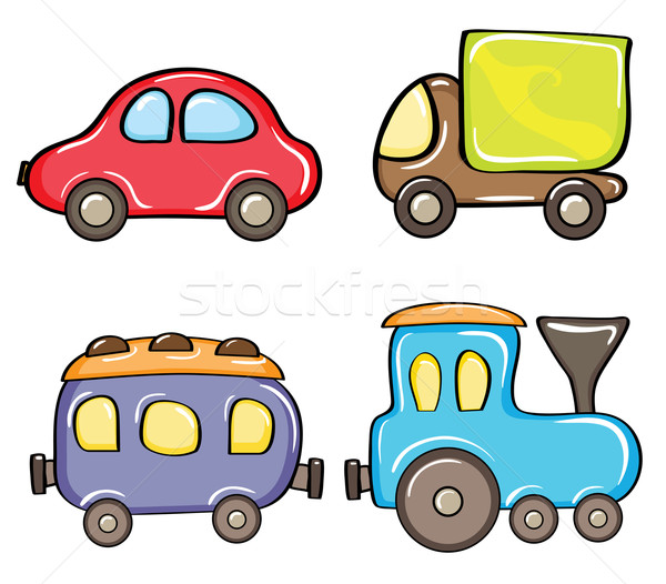 Stock fotó: Szín · autók · szett · rajz · fehér · autó
