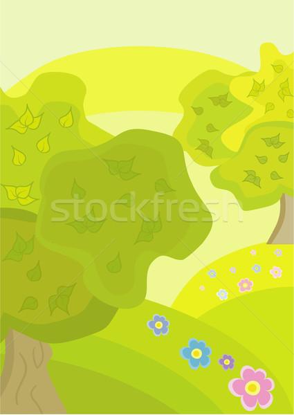 Beautiful trees Stock photo © Stellis