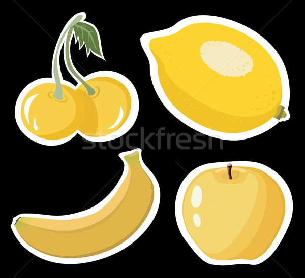 Lemon, cherry, banana, apple Stock photo © Stellis