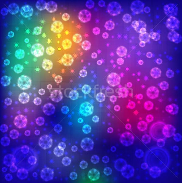 Absztrakt színes fények eps10 üzlet hó Stock fotó © Stellis