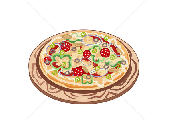 ízletes pizza nagy illatos forró tábla Stock fotó © Stellis