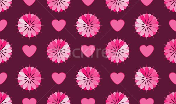 Virágmintás virág végtelen minta rózsaszín esküvő könyv Stock fotó © Stellis