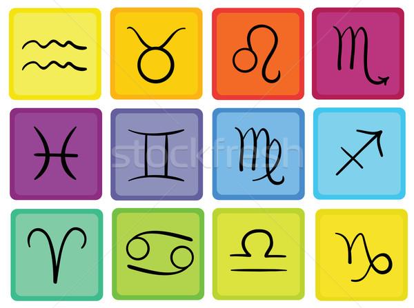 Foto d'archivio: Zodiaco · segni · colore · bianco · computer · sfondo
