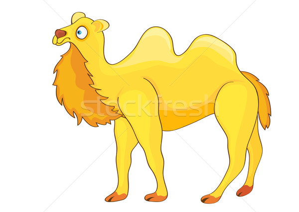 Yellow Cartoon Camel. Stock photo © Stellis