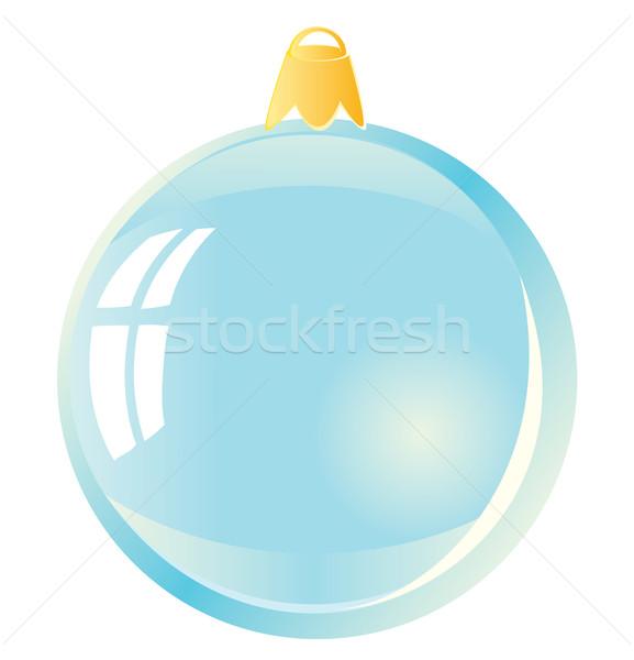 Stock fotó: Karácsony · labda · kék · gömb · fehér · terv