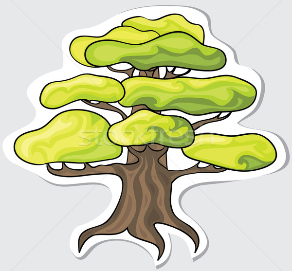 Stilizált fa terv vektor tavasz erdő Stock fotó © Stellis