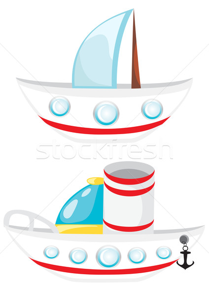 Cartoon beatiful ships Stock photo © Stellis